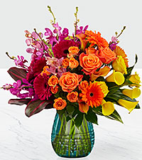 Le bouquet Beyond Brilliant™ Luxury de FTD® - VASE INCLUS