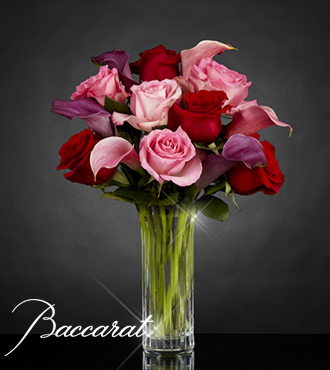 Fuchsia Finesse Bouquet in Baccarat® Crystal