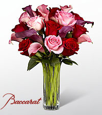 Fuchsia Finesse Bouquet in Baccarat® Crystal Vase
