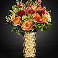 The FTD® Glow of Gratitude Luxury Bouquet - VASE INCLUDED
