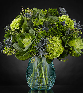 Le bouquet Ocean's Allure™ Luxury - VASE INCLUS