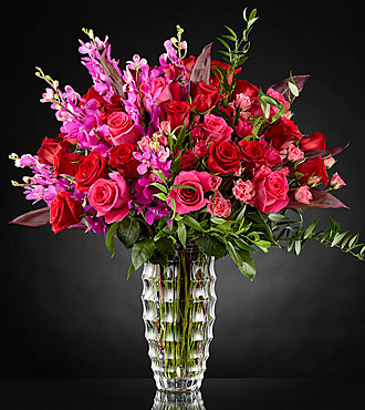 Heart's Wishes™ Luxury Bouquet by Interflora™- VASE INCLUDED