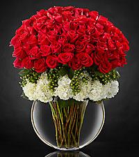 Lavish Luxury Rose Bouquet - VASE INCLUDED