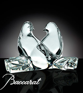 Baccarat® Crystal Loving Doves