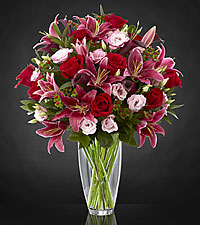 Cherish Valentine Luxury Bouquet - VASE INCLUDED