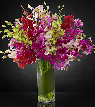Luminous Luxury Orchid Bouquet - VASE INCLUDED