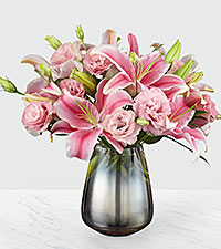 The FTD® Pink Magnifique Luxury Bouquet - VASE INCLUDED