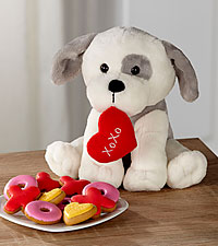 Kisses & Cookies Valentine's Day Plush Puppy