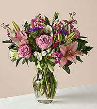 Deluxe Flower Power Bouquet With Vase