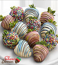 Chocolate Dipped Sweet Celebrations Strawberries-12-piece