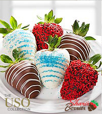 Chocolate Dipped Patriotic Strawberries