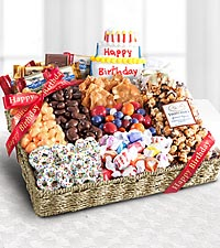 Gift baskets food gift baskets delivered locally by ftd birthday festive feasting snack tray negle Choice Image