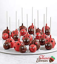 Handmade Love Bug Brownie Pops