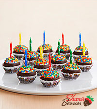 Handmade Birthday Cupcake Brownie Pops