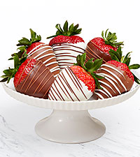 Gourmet Dipped Swizzled Strawberries