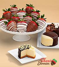Dipped Cheesecake Trio & Swizzled Strawberries