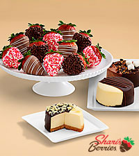 Dipped Cheesecake Trio & Valentine's Strawberries