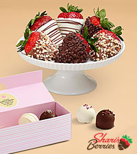Mother's Day Cake Truffles & Fancy Strawberries