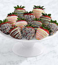Hand-Dipped Birthday Strawberries