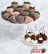 10 Dipped Cherries & Birthday Strawberries