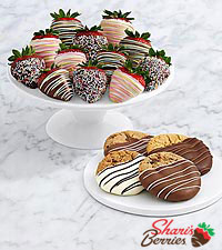 4 Dipped Cookies & Birthday Strawberries