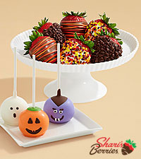 3 Halloween Brownie Pops & Autumn Strawberries