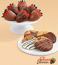 Dipped Cookies & Salted Caramel Strawberries
