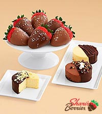 Dipped Cheesecake Trio & Salted Caramel Strawberries
