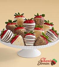 Gourmet Dipped Christmas Cheesecake Strawberries