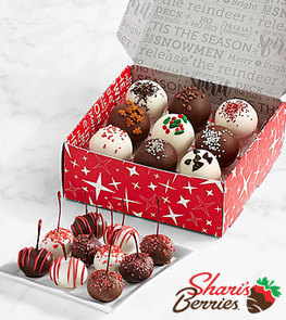 Christmas Cherries and Christmas Cake Truffles