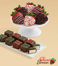9 Christmas Cheesecake Bites & Christmas Strawberries