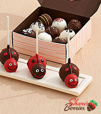 3 Love Bug Brownie Pops & Assorted Cake Truffles