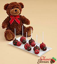 Teddy Bear & Love Bug Brownie Pops