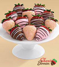 Gourmet Dipped Pink Cheesecake Strawberries