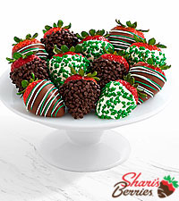 Gourmet Dipped St. Patrick's Day Strawberries