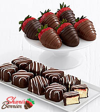 9 Cheesecake Bites & Belgian Chocolate Strawberries