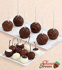 10 Dipped Cherries & Father's Day Cake Pops