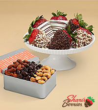 Snack Lover's Nut Trio & Fancy Strawberries
