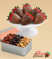Snack Lover's Nut Trio & Salted Caramel Strawberries