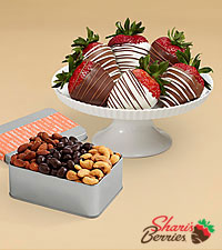 Snack Lover's Nut Trio & Swizzled Strawberries