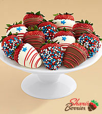 Hand-Dipped Star Spangled Strawberries