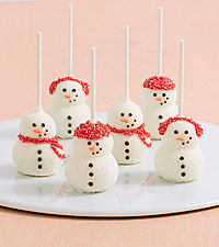 Handmade Snowman Brownie Pops