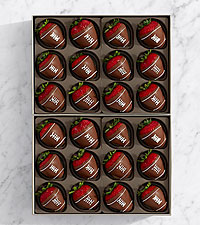 Hand-Dipped Football Strawberries