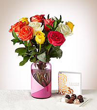 Better Together Bouquet And Chocolates Gift Set