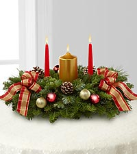 Classic Christmas Candle Centerpiece