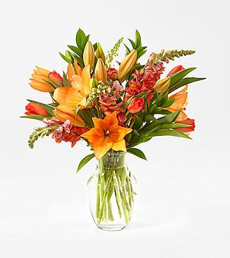 Tangerine Dream Bouquet with Vase