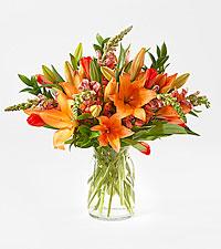 Tangerine Dream Deluxe Bouquet with Vase