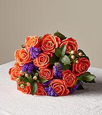 Warm Ember Rose Bouquet