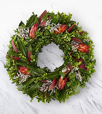 Scarlet Elegance Wreath