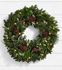 Winter Greetings Pine Wreath